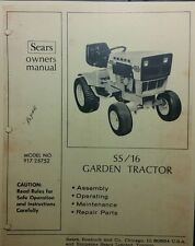 Sears Suburban SS/16 Tractor Owner, Parts & Engine Service (2 Manuals) 917.25752