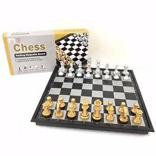 Magnetico ABS Scheda di scacchi Set di giochi pieghevole Tavola INTERNAZIONALE