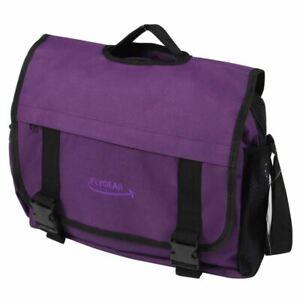 FlyGEAR Dispatch Messenger Bag Purple - Travel Work School College