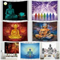 Zen Buddha Statue Theme Tapestry Wall Hanging Rug Living Room Decor Tapestries