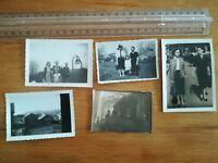 N°75 - 5 PHOTOS FAMILLE ANNEES 50