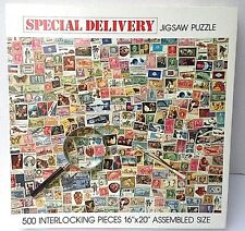 "POSTAGE STAMPS Puzzle ""SPECIAL DELIVERY"" 500 piece jigsaw puzzle"