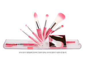 [COC] Make up Brush Pink Collection kit 9pcs Lovely Portable Travel K-Beauty