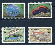 Grenada 1299/1302 postfrisch / WWF - Fische ..............................2/1736