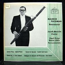 MAURICE PACHMAN & JACOB MAXIN bassoon recital LP VG+ RE 7019 Golden Crest USA