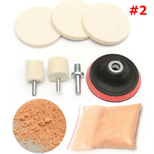 8in1 Car Windscreen Scratch Remover Glass 3'' Polishing Kit +Cerium Oxide Powder