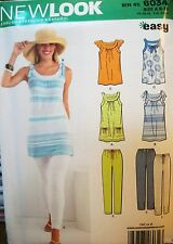Miss New Look 6034 Sewing Pattern KNIT UNCUT Tunic & Pants Size 8-10-12-14-16-18