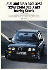 BMW 3 3er E30 M3 325 320 318 iS 316 Farben Polster Prospekt Brochure 1989 66