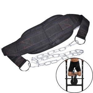 Drop Shipping Dip Belt Weight Lifting Gym Body Waist Strength Training  DEHF
