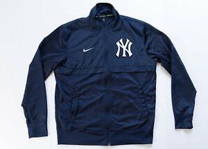 New York Yankees Jacket Men's Medium Nike BSBL Track Jacket Blue Full Zip MLB
