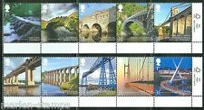 GREAT BRITAIN 2015 BRIDGES SET OF TEN STAMPS MINT NEVER HINGED