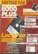 Amstrad PCW 8000 Plus Issue 26 November 1988. LocoFile. GSX. New Z88 Series