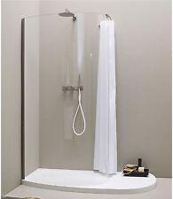 Crisp white shower curtain 1m*2m new free shipping