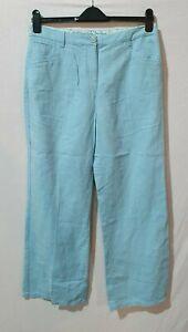 Worn Per Una Size 14r Blue Trousers- 808
