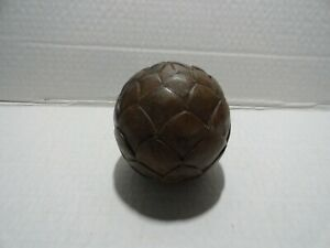 "VINTAGE - 12'"" ROUND WOOD PIECE OF FRUIT  - BROWN EXCELLENT CONDITION"