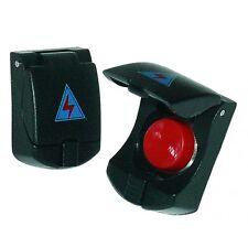 Pulsante bottone  rosso universale 12V 7A con sportellino/coperchio nero