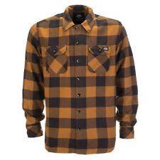 Dickies Sacramento Plaid Long Sleeve Shirt Brown Duck XL