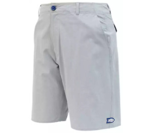 AFTCO Men's Cloudburst Fishing Shorts Gray Heather NWT Sizes 30, 38