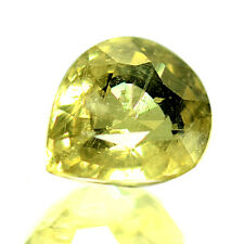 4.06 Ctw Yellow Color UnHeated Item Rare Color Natural Sapphire with Best Offer
