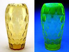 Vaseline glass - Rare uranium glass vase - Borske Sklo - vase glows in dark
