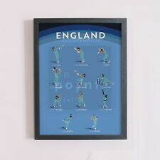 England Cricket World Cup Winning ODI Team Art Print - A3/A4 Poster size