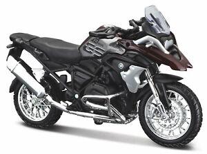 BMW R 1200 GS 2017, dunkelrot/grau, Maisto Motorrad Modell 1:18