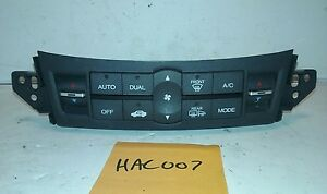 09 10 ACURA TSX US MKT. CLIMATE CONTROL TEMPERATURE HEATER AC AIR USED OEM