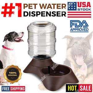 AUTOMATIC PET WATER DISPENSER Feeder Dish Waterer Feeding Bowl Cat Dog BLACK