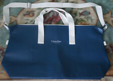 Brand New Calvin Klein Faux Leather Blue Holdall/Gym Bag/Weekend Bag