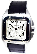 Cartier Santos 100 XL Chronograph Steel Mens 41mm Automatic Watch 2740