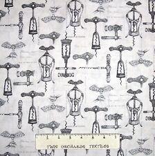 Vineyard Collection Fabric - Antique Corkscrews Beige - Robert Kaufman YARD