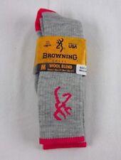 Womens Browning IMPERFECT Medium Weight Wool Blend Boot Sock Sz Medium 6-9