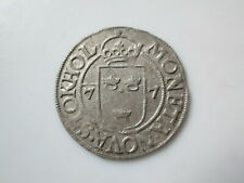 Sweden medieval  silver coin, Johann III 1/2 öre 1577, Stockholm