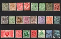 Great Britain 23 Geo V Collection of stamps 1910-36 Used (6474)