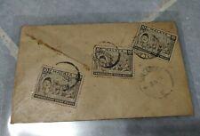Malaysia 1958 Merdeka Malaya Tunku Abdul Rahman 3v stamp actual mail cover R8492