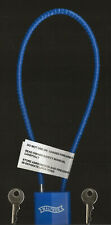 """Walther Gun Lock with 15"""" Cable, Blue"""