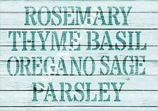 A5 Stencil,VARIOUS HERBS, Reuseable stencil, Garden, Shabby Chic,furniture, sign