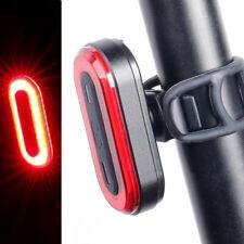 Bicycle Tail Light Bike Rear Lamp USB Charge Warning Safety Lantern COB LED