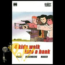 4 Kids Walk Into A Bank #1 GHOST Variant BOTTLE ROCKET Exclusive Black Mask NM!