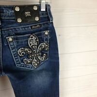 MISS ME EMBELLISHED womens size 25 in. short stretch signature bootcut jeans