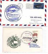 Slayton TEXAS 1969 Airport Dedication Cover + 1 Postal Card: Lubbock County !!