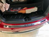 For Mazda CX5 Accessories Car Door Sill Cover Scuff Plate Rear Bumper Protector