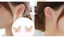 ROSE GOLD PLATED BUTTERFLY STUD EARRINGS