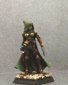 Reaper painted miniature Female Thief, Rogue,Assassin (metal) D&D RPG