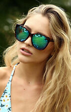NEW QUAY About Last Night Tortoiseshell/Blue Mirror Sunglasses
