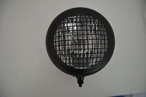 """6.5"""" Motorcycle Headlight Black Steel Mesh Front Bottom Mount UK Retailer"""