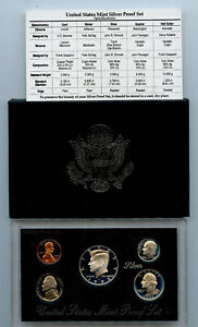 1992 United States Mint Silver Proof Set With Box And COA