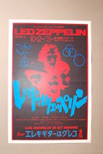 Led Zeppelin Concert Tour Poster 1972 Asia