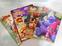 LOT of 4 DISNEY Activity Color Books LionGuard Toy Story Trolls Translvania