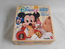 Vintage Disney Baby Mickey Mouse Activity Center 3-24 Mos Mattel